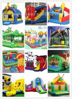 large inflatables - Inflatable Castle Jump Bed Children Toys Fashion Kids Inflatable Castle Hot Baby Fort and Large Jump Bed Outdoor Inflatable Castle