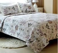 "Cheap Wholesale-3pcs+ 230*230""Cotton Bedspread Unique Retro Ocean Fish Comforter Bedding set Queen Size Quilted Bedcover,Pillowcase*2"