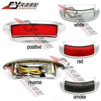 Wholesale Brand New Chrome Motorcycle Smoke White Red Lens LED Rear Fender Taillight lamp For Harley