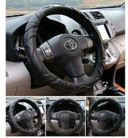 Wholesale sheep leather car steering wheel cover eco friendly very good hand feel covers colors