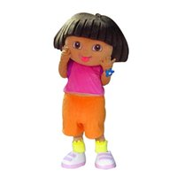 dora mascot - LAI353 High quality of D DORA the explorer adult costume love expeditionary DORA mascot costume plush cartoon