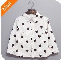Wholesale 2016 new spring long sleeve koran love heart blouse shirt fashion boy t shirt