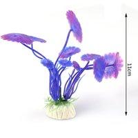 Wholesale Purple Artificial Plastic Underwater Plant Aquarium Fish Tank Decoration