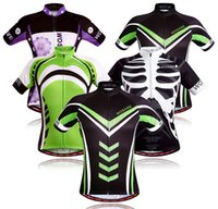 Wholesale New men and women short sleeved cycling jerseys T shirts clothes bike riding jersey Size S XL