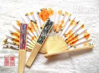 Wholesale Water painting fan wooden folding fan gift hand fan wedding gift fan bridal fan