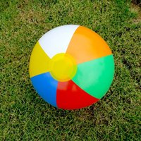 beach ball pool party - Inflate Beach Ball Lovely Multicolor Ball Playing Toy Kids Pool Swimming Splash Play Party Water Game Toy Inflatable Ball JF0014 Smileseller