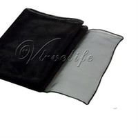Wholesale Black Sheer Organza Table Runner quot x quot Wedding Party Decoration order lt no track