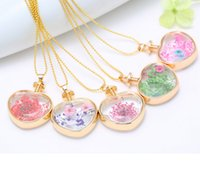 american picture framing - Hot European and American fashion Simulation Flowers Crystal Glass Picture Frames Alloy Peach Heart Necklace