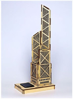 banks world - World famous buildings Solar energy Wooden Jigsaw D Puzzle Bank of China Tower Xmas Gift Toys for childrens Learning Education
