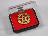 aluminum alloys agents - 2016 Promotion Top Fashion Ussr German Cap Insignia Russian Military Uniform Dhs Fema Agents Metal Badge Brooch