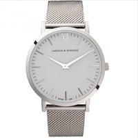 Wholesale hot selling full stainless steel mesh strap unisex quartz watch larsson jennings mens watches hot fashion women watch Relojes LJ Watches