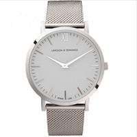 Wholesale hot selling full stainless steel mesh strap unisex quartz watch larsson jennings mens watches hot fashion women watch Relojes LJ Watches