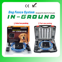 Wholesale 8pcs Over square meter Dog Fence System Remote control of pet activity with levels of Vibration and Static