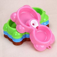 Cheap dog double bowl Best dog bowl toy
