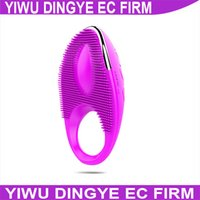 vibrating condom ring - HRechargeable Reusable Condom Silicone Vibrating Cock Rings Penis Sleeves Sex Products for Men Penis