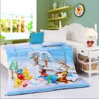 Wholesale Children Christmas snow bed quilted comforter with Winnie the Pooh Piglet Tigger reactive printing bedding quilts twin queen