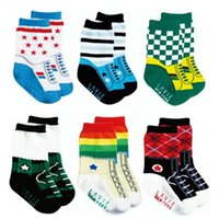 baby dairy - pairs anti slip boys cotton socks dairy casual socks baby sport socks