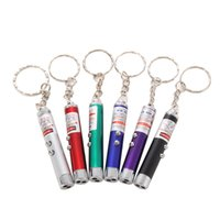 Cheap car Mini 2in1 Keychain Lighting LED Torch Lamp + Red Laser Pointer Pen Pet Toy Free Shipping MTY3