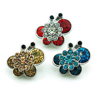 bee accessories - New Arrival Fashion mm Snap Buttons Color Rhinestone Bee Metal Ginger Clasps DIY Noosa Jewelry Accessories