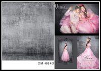 Wholesale 6 FT x300CM Custom Wedding Backgrounds Photography Backdrops Grey Brick Wall Fonds Fotografia Thin Vinyl Backdrops For Photography