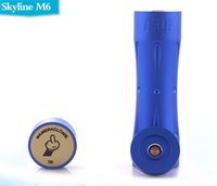 aluminum etching - ew arrival Skyline m6 clone mechanical mod For Battery ALUMINUM Material High quality laser etched design