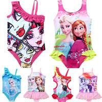 Wholesale Girls swimwear Children Bathers infantil One piece Baby Girls Swimwear Swimsuit Cartoon my little pony