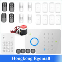 Wholesale Universal Mhz CHUANGO G5 GSM SMS Home Burglar Security Alarm System with RFID Tag access control
