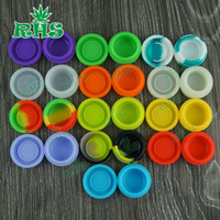 Wholesale Small Glass Containers Wholesale - Non-stick Small Silicone Wax Containers Multi-colors 3ml Wax Oil BHO Concentrate Container Silicon Dab Jar for Glass Bongs Water Pipe