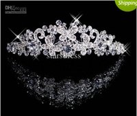 Wholesale diamond Butterfly Crown Combs Wedding Bridal Tiara Jewelry Crystal Hair Ornaments Wedding Dress Accessories