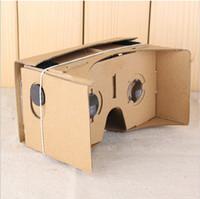 2015 nueva DIY Google Cartón Valencia Calidad 3d Vr gafas de realidad virtual con anillo de plata sin NFC