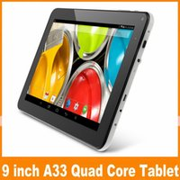 big dock - 9 Inch A33 Quad Core Android Tablet Wi Fi Bluetooth External G Tablets PC Inch Dual Camera Big Bettery With Flashlight JBD T93