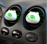 Precio de Car air freshener-2pc / set mini perfume del enchufe del coche, oso panda encantador del enchufe del coche de perfume, ambientador del purificador del aire humidificador, coches nuevos suministros