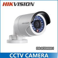 Wholesale Hikvision DS CD2032 I Outdoor IP Camera mm lens P MP IR Bullet IP camera POE V5 DHL