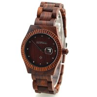 antique auto battery - Antique unisex analog bamboo sanders wood wristwatches automatic battery movement wooden wrist watches as lover boy christmas gift
