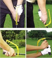 Wholesale New Golf Player Gesture training Correct Appliance Practice Plane Swing Guide Trainer Gesture Alignment Training Wrist Correct Aid Tool