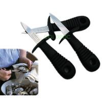 al por mayor cuchillo de ostras-Mayor-Manera de acero inoxidable humanizado Diseño Cuchillo Oyster / Profesional Abrir Oyster cuchillos / Mariscos Dedicado cuchillo