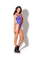 american flag swimwear - New Women American Flag Swimwear Swimsuit Bathing Beach Set Bikini Sexy Summer Polyester Free Size
