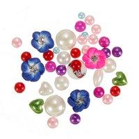Cheap Little Clean Frensh Mix Shape 3D Rhinestone Glitter Nail Art Acrylic Tips Pearl Flower Decoration Design Manicure Nail Tools