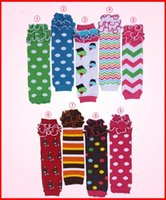 children socks - 2015 Retail baby girls lace ruffle chevron leg warmers children cotton dot leg warmers lace wave socks adult arm warmers pairs