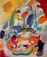 battle paintings - Modern art abstract paintings Improvisation No Sea Battle Wassily Kandinsky Oil on Canvas High quality Hand painted