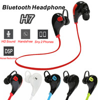 Wholesale QY7 Headphones H7 Sports Bluetooth headset in ear earbuds wireless earphone ear buds ecouteur auriculares for samsung iPhone Huawei HTC