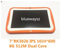 Wholesale IPS1024 Dual Core Kids Tablet PC Android Tablet PC RK3026 Child s Gift Toy quot children Educational A8 M GB GHz Dual Camera p