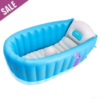 Wholesale Portable Baby Inflatable Bathtub Children Safe Eco friendly Non toxic Thick Tub for Kids x x cm Fast Shipping