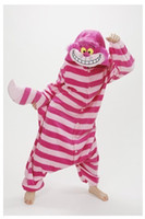 adult sleepsuit - Winter New Sleepsuit Adults Cartoon Cheshire Cat Onesies Unisex Onesies Pajamas Cosplay Costumes Adult Garment Cartoon Jumpsuits Unisex