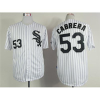 pinstripe baseball jerseys - White Sox Melky Cabrera Baseball Jerseys White with Black Pinstripe Mens Sports Jerseys Discount Baseball Wear Teams Baseball Apparel