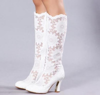 Cheap wedding Shoes Best Lace Bridal Wedding Boots