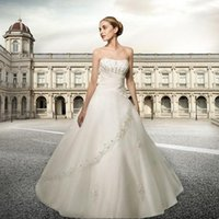 Cheap Bra newest stylish white tulle bridal have beading applique halter floor length bridal dress Hot Products