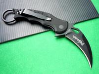 Cheap 2pcs Fox Claw Karambit Black Edition G10 Handle Folding blade knife Outdoor gear EDC Pocket Knife hunting knife camping knife knives