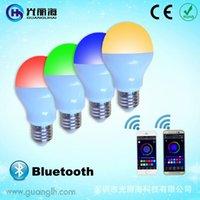 Wholesale LED bulb lamp bulb LED Bluetooth mobile phone intelligent remote control bulb RGBW bulb W plastic and aluminum