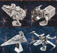 gun - Free DHL DIY D Models Star wars ATAT Tie Fighter Kits Metallic Nano Puzzle no glue required For adult and kids Chirstmas gift